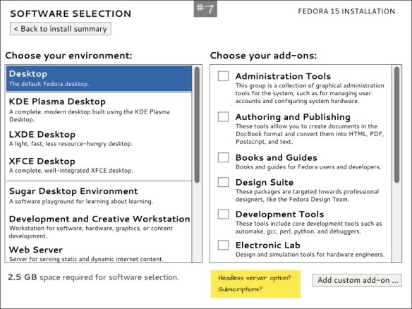 Software Selection Mockup